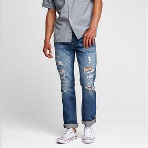 Hudson Jeans BLAKE SLIM STRAIGHT CROPPED Size 32